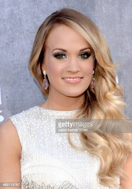 Singer Carrie Underwood attends the 49th Annual Academy Of Country Music Awards at the MGM Grand Garden Arena on April 6 2014 in Las Vegas Nevada