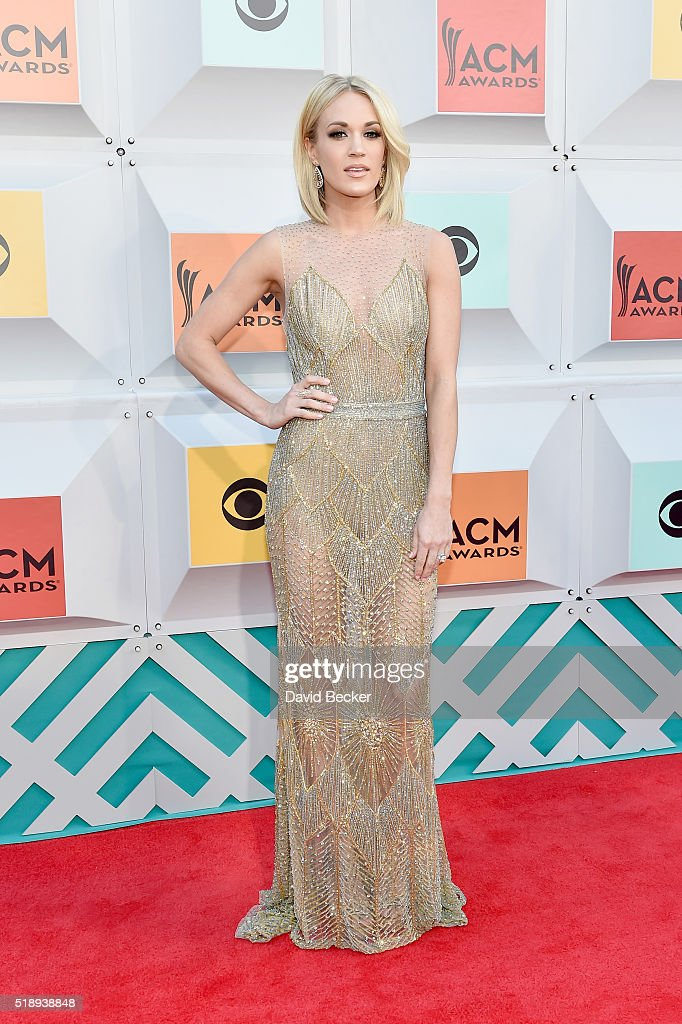 Singer <a gi-track='captionPersonalityLinkClicked' href=/galleries/search?phrase=Carrie+Underwood&family=editorial&specificpeople=204483 ng-click='$event.stopPropagation()'>Carrie Underwood</a> attends the 51st Academy of Country Music Awards at MGM Grand Garden Arena on April 3, 2016 in Las Vegas, Nevada.