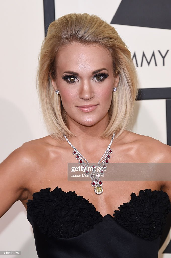 Singer <a gi-track='captionPersonalityLinkClicked' href=/galleries/search?phrase=Carrie+Underwood&family=editorial&specificpeople=204483 ng-click='$event.stopPropagation()'>Carrie Underwood</a> attends The 58th GRAMMY Awards at Staples Center on February 15, 2016 in Los Angeles, California.