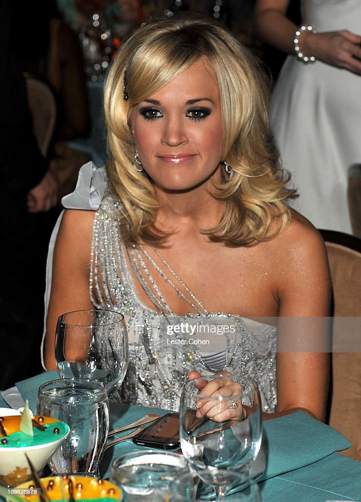 Singer Carrie Underwood during the 52nd Annual GRAMMY Awards - Salute To Icons Honoring Doug Morris held at The Beverly Hilton Hotel on January 30, 2010 in Beverly Hills, California.