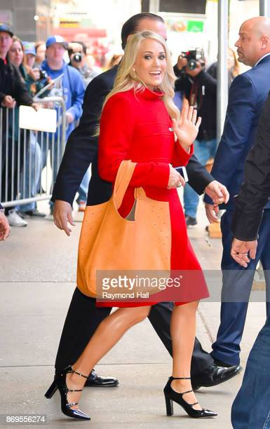 Singer Carrie Underwood is seen outside Good Morning America on November 2 2017 in New York City
