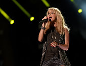 Singer Carrie Underwood performs at LP Field during the 2015 CMA Festival on June 13 2015 in Nashville Tennessee