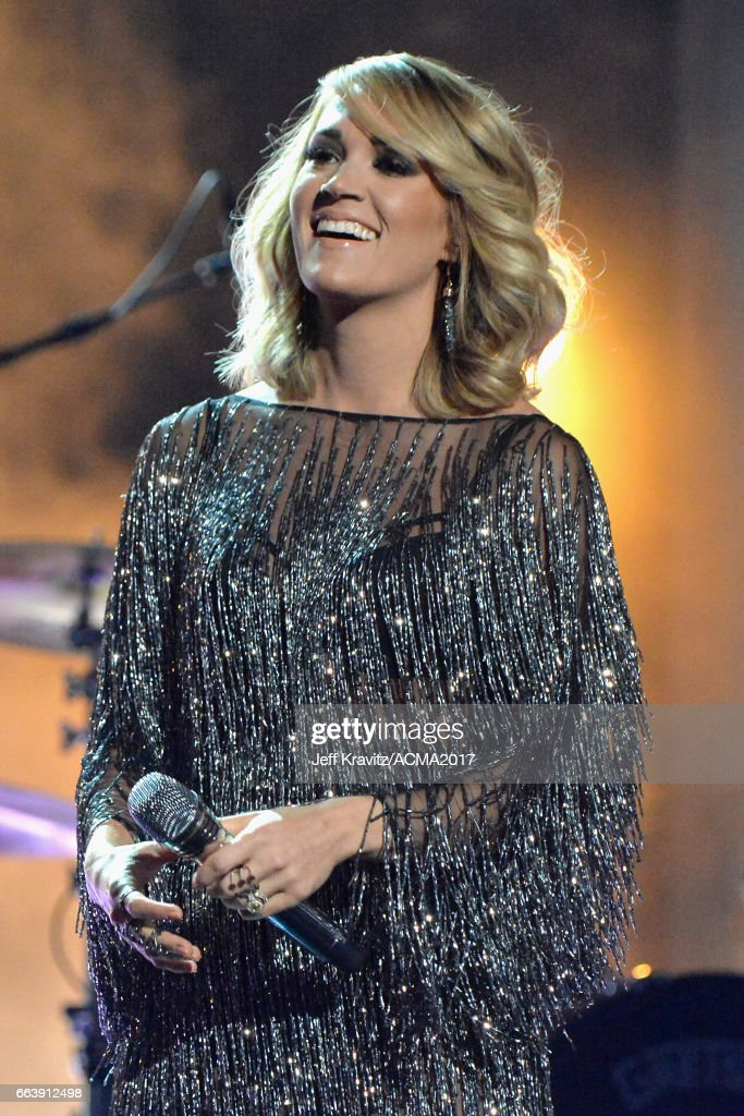 Singer Carrie Underwood performs onstage at the 52nd Academy Of Country Music Awards at T-Mobile Arena on April 2, 2017 in Las Vegas, Nevada.