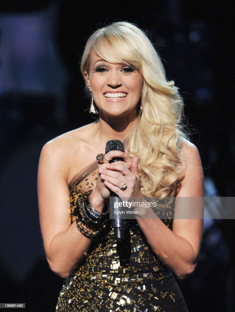 Singer <a gi-track='captionPersonalityLinkClicked' href=/galleries/search?phrase=Carrie+Underwood&family=editorial&specificpeople=204483 ng-click='$event.stopPropagation()'>Carrie Underwood</a> performs onstage at the 54th Annual GRAMMY Awards held at Staples Center on February 12, 2012 in Los Angeles, California.