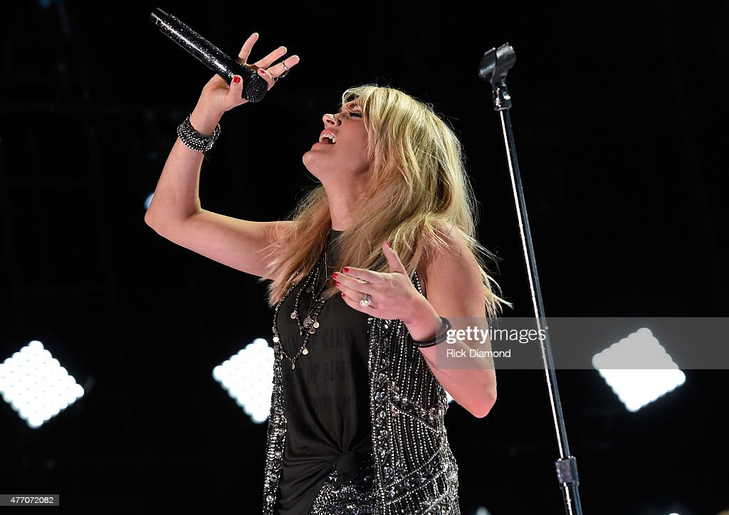 Singer Carrie Underwood performs onstage during the 2015 CMA Festival on June 13 2015 in Nashville Tennessee