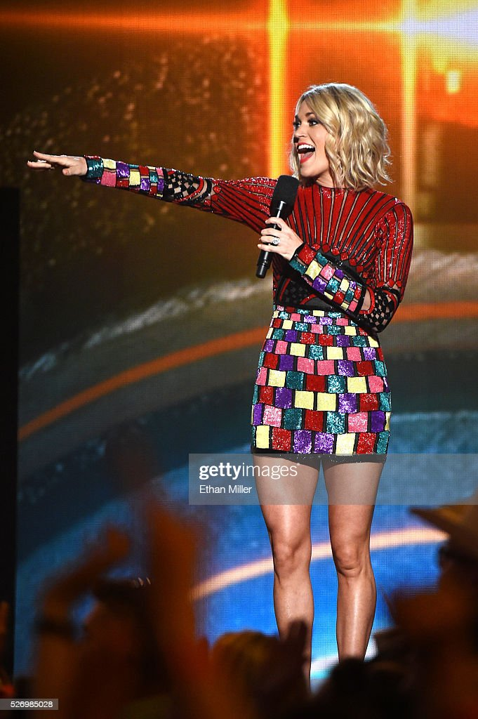 Singer Carrie Underwood speaks onstage during the 2016 American Country Countdown Awards at The Forum on May 1, 2016 in Inglewood, California.