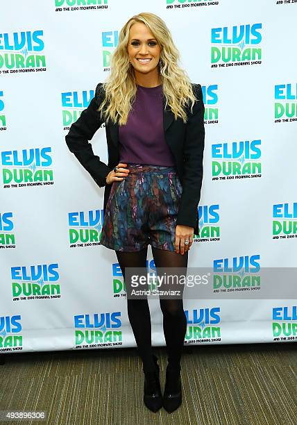 Singer Carrie Underwood visits 'The Elvis Duran Z100 Morning Show' at Z100 Studios on October 22 2015 in New York City