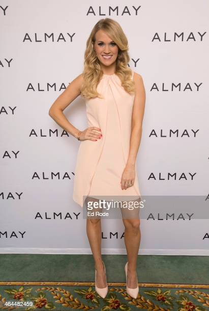 Singer Carrie Underwood welcomes Almay to Nashville as their newest global brand ambassador at the Hermitage Hotel January 22 2014 in Nashville...