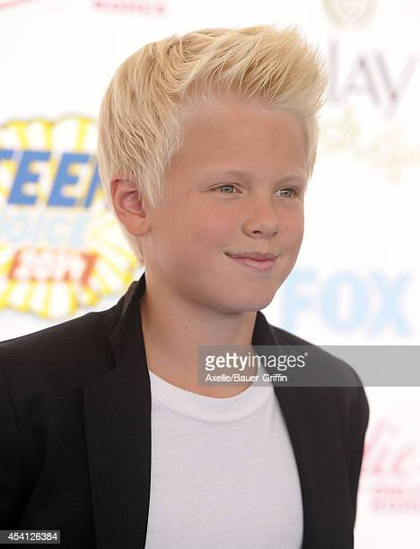 Singer Carson Lueders arrives at the 2014 Teen Choice Awards at The Shrine Auditorium on August 10 2014 in Los Angeles California