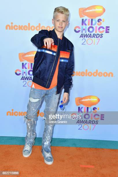 Singer Carson Lueders at Nickelodeon's 2017 Kids' Choice Awards at USC Galen Center on March 11 2017 in Los Angeles California
