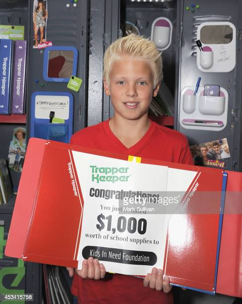 Singer Carson Lueders attends the Backstage Creations Celebrity Retreat at Teen Choice 2014 Day 1 on August 9 2014 in Los Angeles California