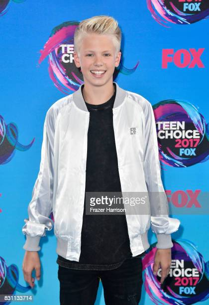 Singer Carson Lueders attends the Teen Choice Awards 2017 at Galen Center on August 13 2017 in Los Angeles California