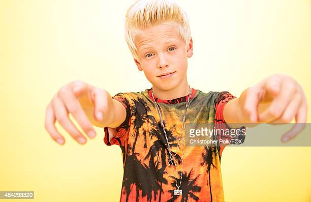 Singer Carson Lueders poses for a portrait during the 2015 Teen Choice Awards FOX Portrait Studio at Galen Center on August 16 2015 in Los Angeles...