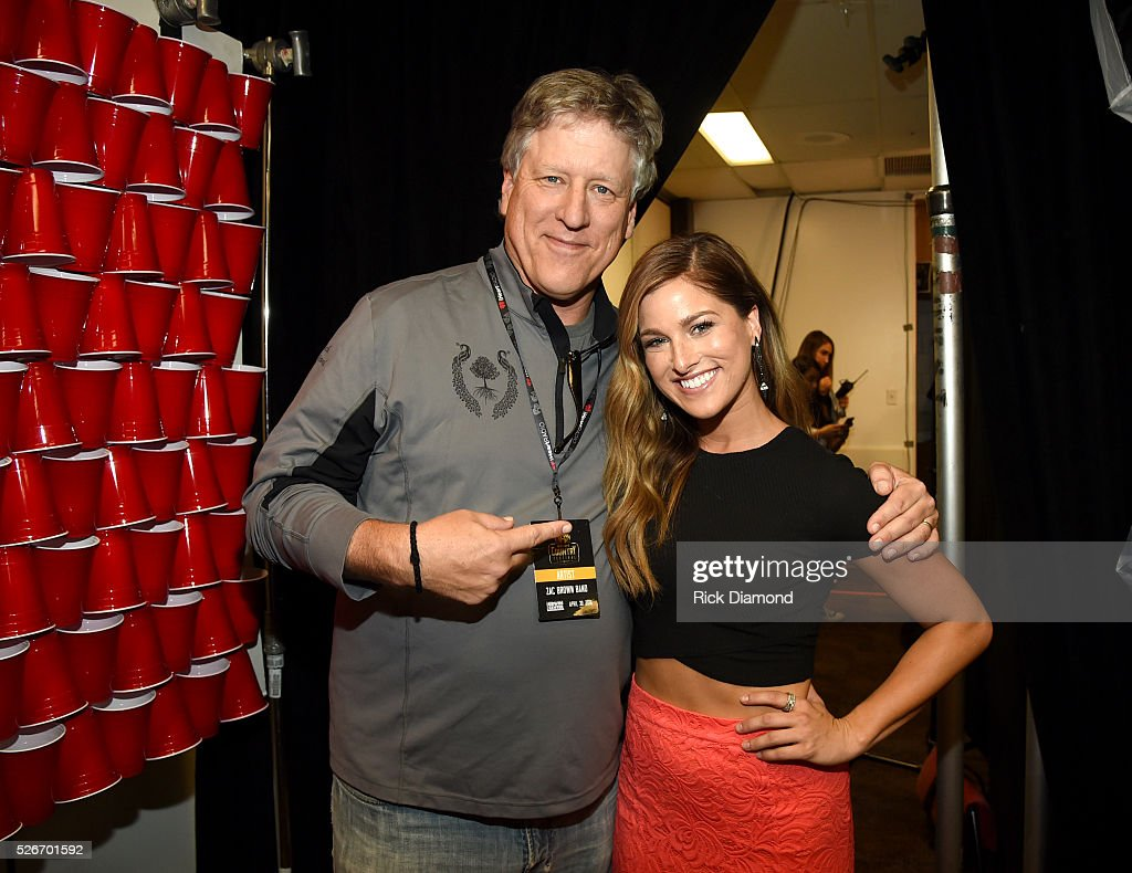 Singer Cassadee Pope (R) and John Huie attend the 2016 iHeartCountry Festival at The Frank Erwin Center on April 30, 2016 in Austin, Texas.