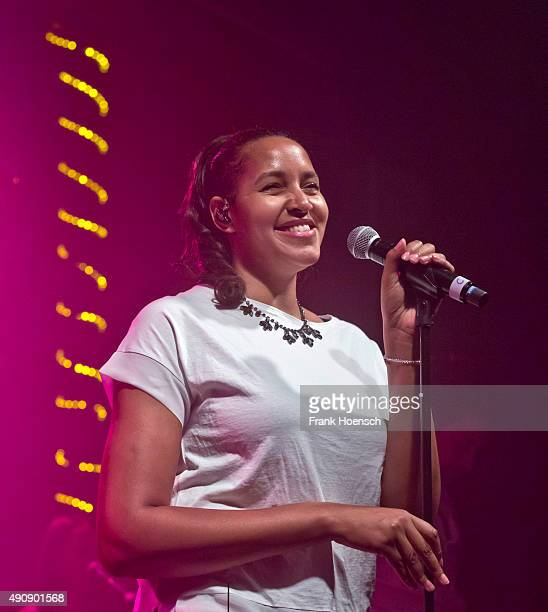 Singer Cassandra Steen performs live during a concert at the Postbahnhof on October 1 2015 in Berlin Germany