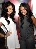 Singer Cassie and actress Lauren London visit MTV's 'Sucker Free' at MTV Studios Times Square on October 17 2007 in New York City
