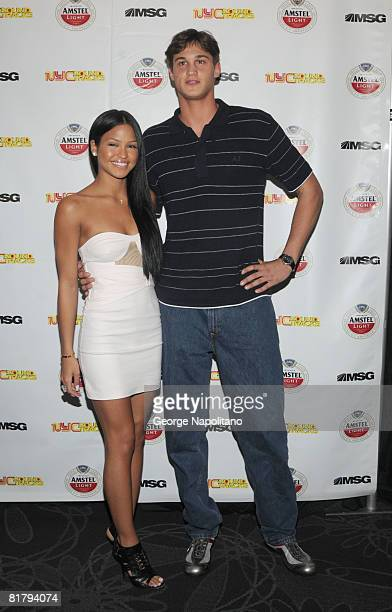 Singer Cassie and New York Knicks 2008 first round draft pick Danilo Gallinari attend the launch of Madison Square Garden's new series 'NYC Sound...