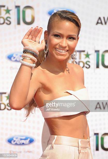 Singer Cassie arrives at the 2010 BET Awards held at the Shrine Auditorium on June 27 2010 in Los Angeles California