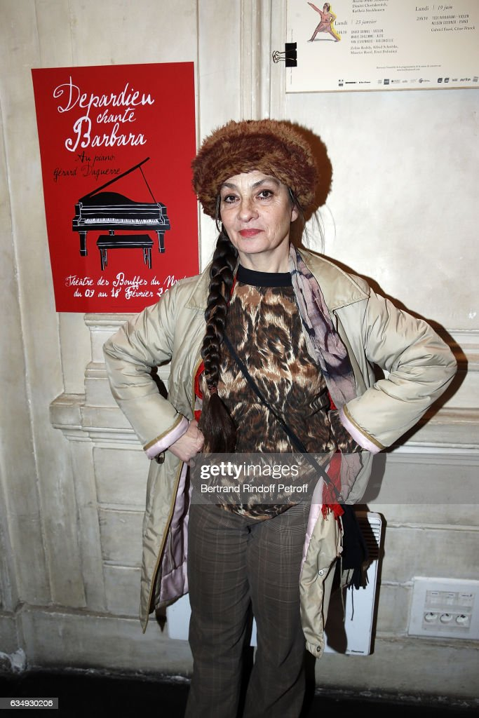 "Celebrities At ""Depardieu Chante Barbara"" At Theatre Des Bouffes Du Nord"
