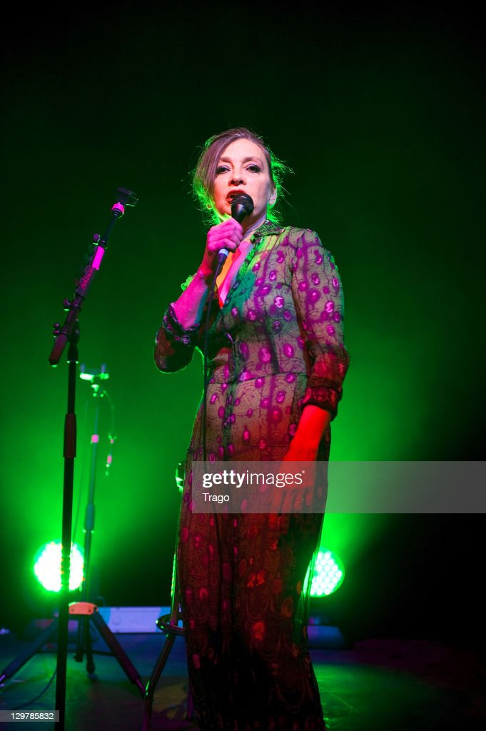 Singer <a gi-track='captionPersonalityLinkClicked' href=/galleries/search?phrase=Catherine+Ringer&family=editorial&specificpeople=4399910 ng-click='$event.stopPropagation()'>Catherine Ringer</a> performs at 'De La rue Aux Etoiles' Book Launch at Jean-Paul Gaultier's on October 20, 2011 in Paris, France.