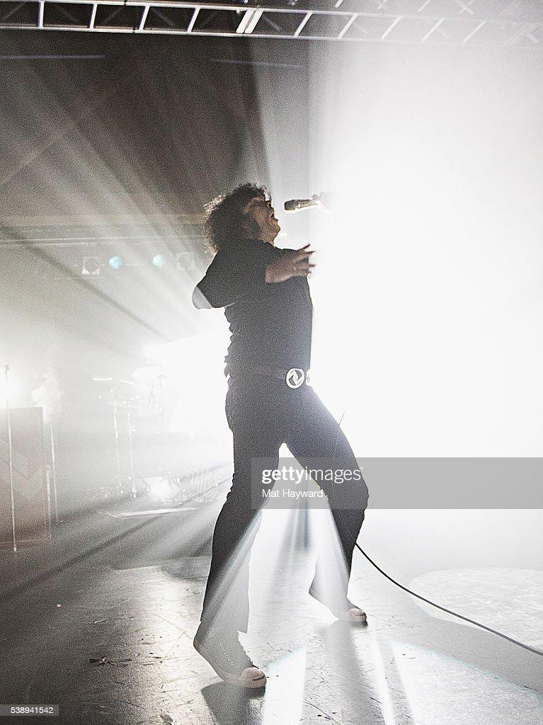Singer Cedric Bixler-Zavala of At The Drive In performs at Showbox SoDo on June 8, 2016 in Seattle, Washington.