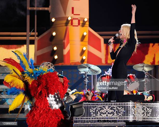Singer Cee Lo Green and actresssinger Gwyneth Paltrow perform onstage during The 53rd Annual GRAMMY Awards held at Staples Center on February 13 2011...