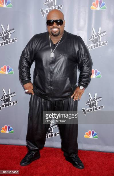 Singer Cee Lo Green arrives at 'The Voice' Season 5 Top 12 red carpet event at Universal Studios Hollywood on November 7 2013 in Universal City...