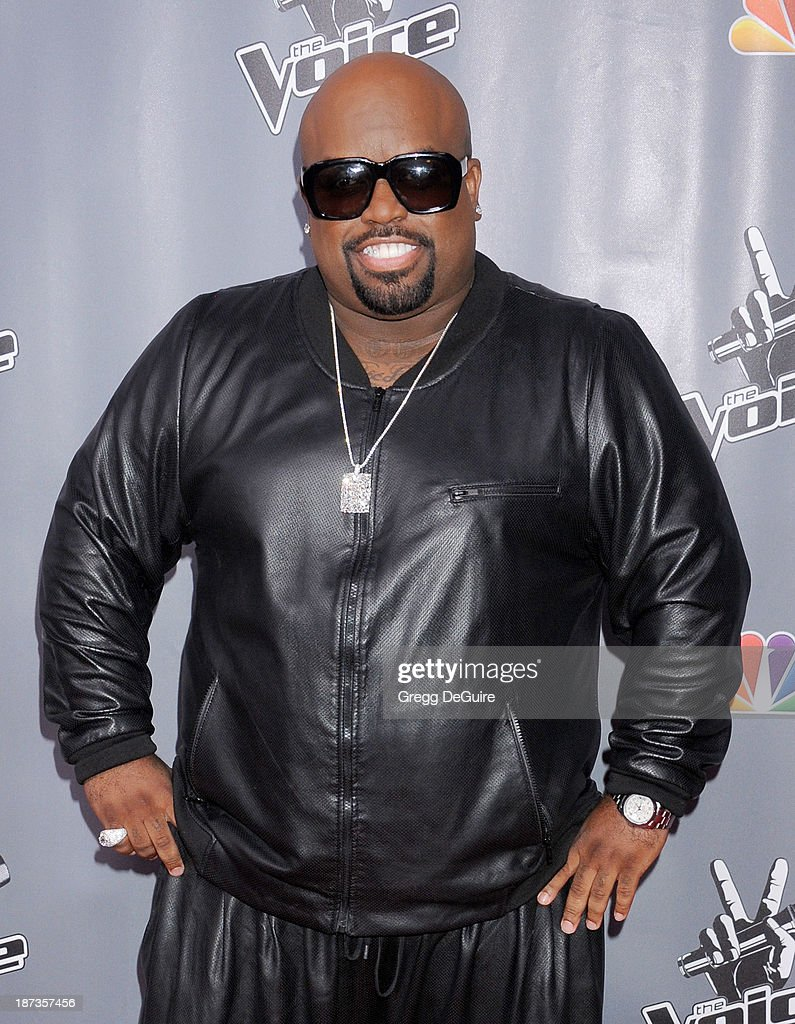 Singer Cee Lo Green arrives at 'The Voice' Season 5 Top 12 red carpet event at Universal Studios Hollywood on November 7, 2013 in Universal City, California.