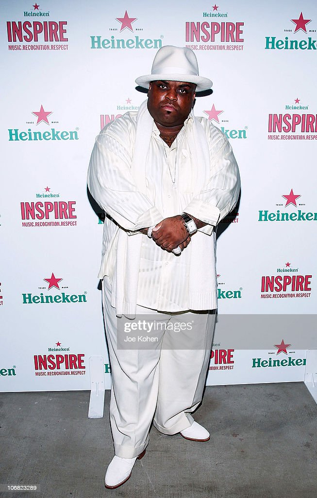 Singer Cee Lo Green attends Heineken Inspire Encore Event featuring Nas, Cee Lo Green, Diplo, Pete Rock, J. Cole and Roxy Cottontail at Basketball City - Pier 36 - South Street on November 13, 2010 in New York City.