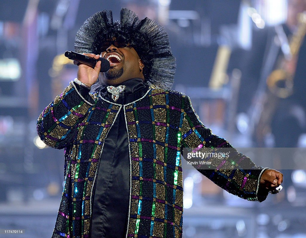 Singer Cee Lo Green performs onstage during the BET Awards '11 held at the Shrine Auditorium on June 26, 2011 in Los Angeles, California.
