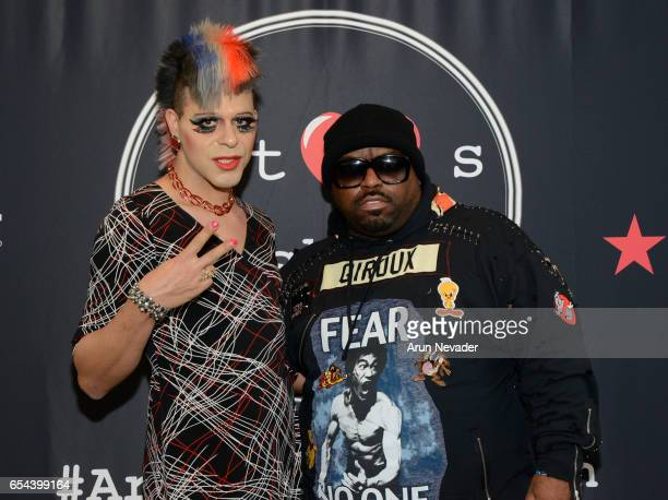 Singer CeeLo Green and pop artist/actor Sham Ibrahim attend Art Hearts Fashion LAFW Fall/Winter 2017 Day 3 at The Beverly Hilton Hotel on March 16...