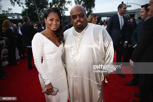 Singer CeeLo Green and Shauni attend the 56th GRAMMY Awards at Staples Center on January 26 2014 in Los Angeles California