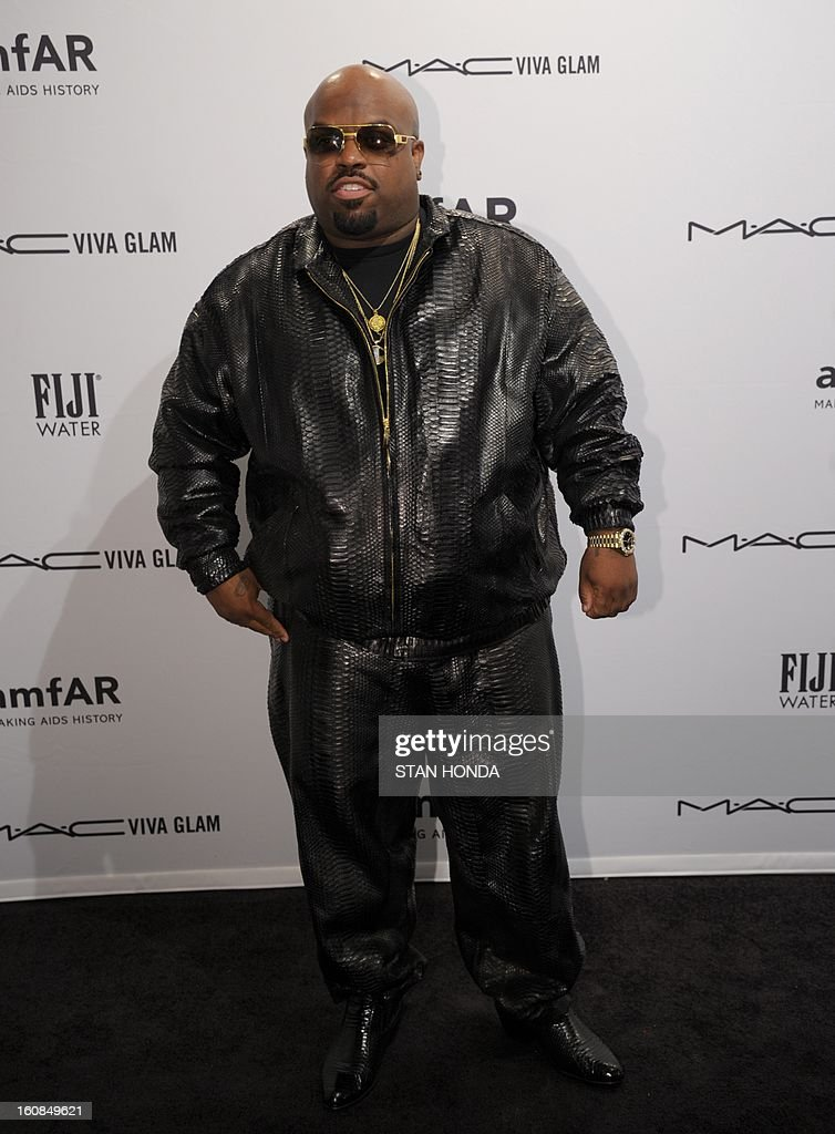 Singer CeeLo Green arrives at the amfAR (The Foundation for AIDS Research) gala that kicks off the Mercedes-Benz Fashion Week February 6, 2013 in New York. AFP PHOTO/Stan HONDA