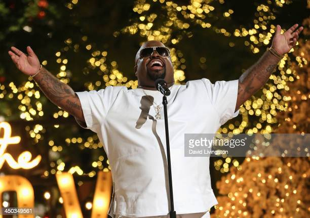 Singer CeeLo Green performs on stage at The Grove's 11th Annual Christmas Tree Lighting Spectacular at The Grove on November 17 2013 in Los Angeles...