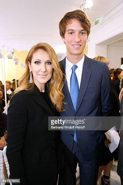 Singer Celine Dion and Alexandre Arnault attend the Christian Dior Haute Couture Fall/Winter 20162017 show as part of Paris Fashion Week on July 4...