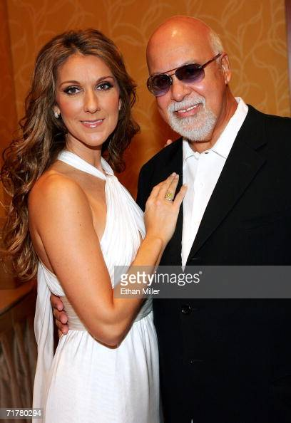 Singer Celine Dion and her husband and manager Rene Angelil pose after Dion performed at the 41st annual Labor Day Telethon to benefit the Muscular...