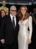 Singer Celine Dion and husband Rene Angelil arrive at the 83rd Annual Academy Awards held at the Kodak Theatre on February 27 2011 in Hollywood...