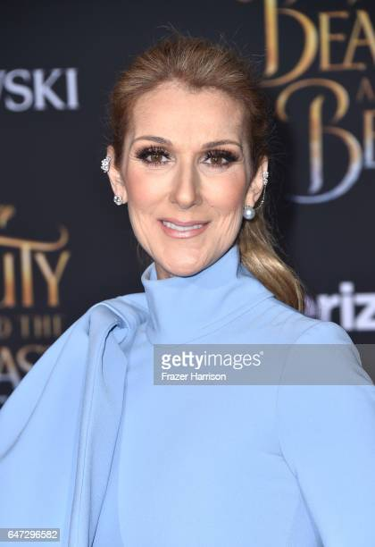Singer Celine Dion attends Disney's 'Beauty and the Beast' premiere at El Capitan Theatre on March 2 2017 in Los Angeles California