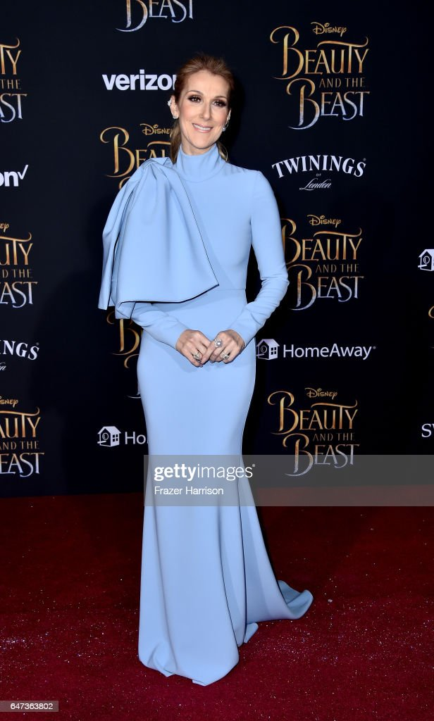 Singer Celine Dion attends Disney's 'Beauty and the Beast' premiere at El Capitan Theatre on March 2, 2017 in Los Angeles, California.