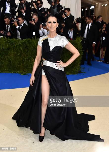 Singer Celine Dion attends 'Rei Kawakubo/Comme des Garcons Art Of The InBetween' Costume Institute Gala at Metropolitan Museum of Art on May 1 2017...