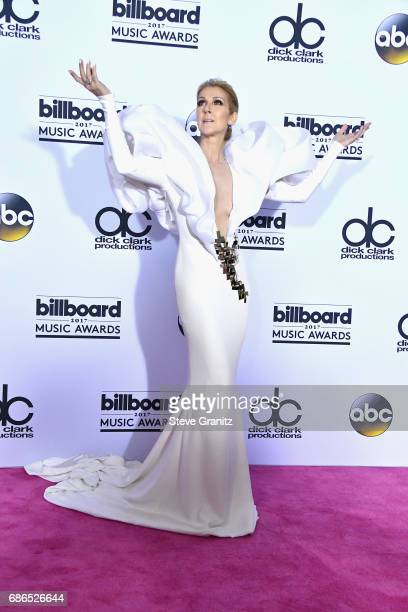 Singer Celine Dion attends the 2017 Billboard Music Awards at TMobile Arena on May 21 2017 in Las Vegas Nevada