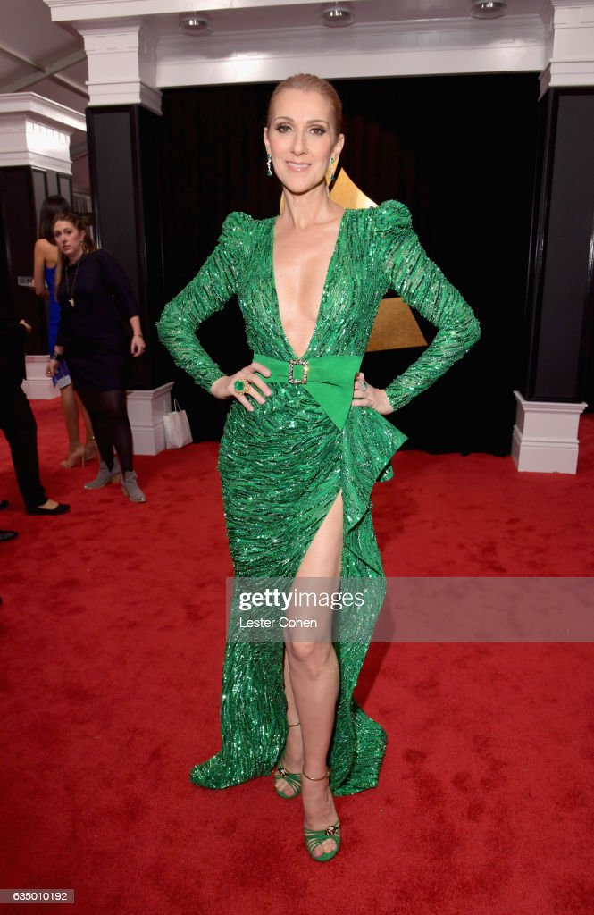 Singer Celine Dion attends The 59th GRAMMY Awards at STAPLES Center on February 12, 2017 in Los Angeles, California.