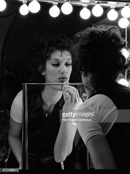 Singer Celine Dion is photographed backstage in 1994 in Montreal Quebec CREDIT MUST READ Ken Regan/Camera 5 via Contour by Getty Images