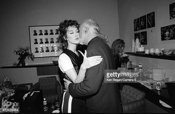 Singer Celine Dion is photographed backstage with husband Rene Angelil in 1994 in Montreal Quebec CREDIT MUST READ Ken Regan/Camera 5 via Contour by...