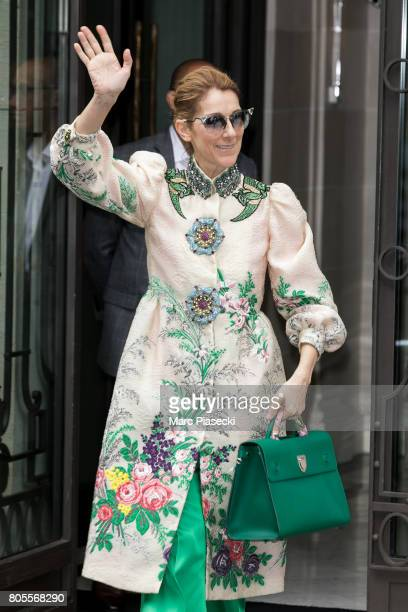 Singer Celine Dion is seen on July 2 2017 in Paris France