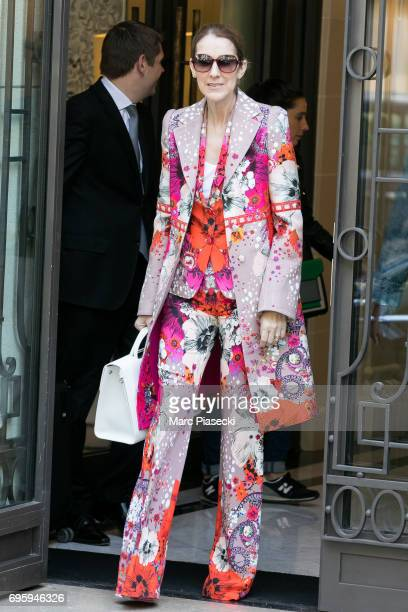 Singer Celine Dion is seen on June 14 2017 in Paris France