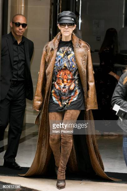 Singer Celine Dion is seen on June 28 2017 in Paris France