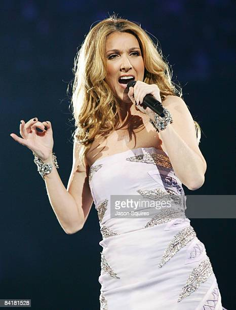 Singer Celine Dion performs at Sprint Center on January 3 2009 in Kansas City Missouri