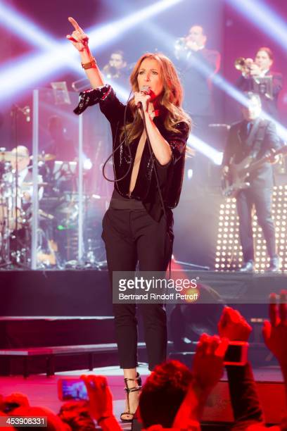 Singer Celine Dion performs at the Palais Omnisports de Bercy on December 5 2013 in Paris France