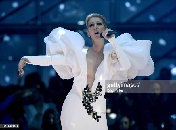 Singer Celine Dion performs during the 2017 Billboard Music Awards at TMobile Arena on May 21 2017 in Las Vegas Nevada
